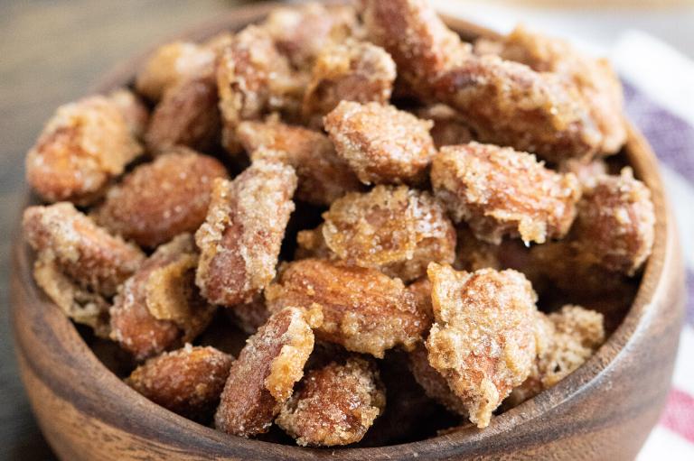 homemade bbq Smoked Cinnamon Almonds